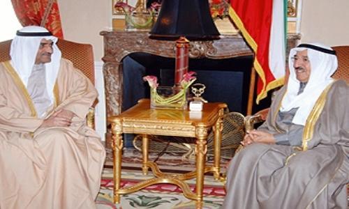 حاكم الفجيرة يلتقي أمير دولة الكويت