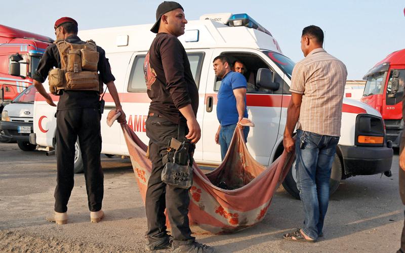 74 قتيلاً بينهم 7 إيرانيين بهجوم مزدوج في جنوب العراق تبنّاه «داعـش»