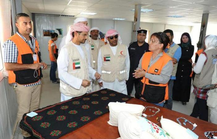 تخرج فوج تقني من اللاجئين السوريين بالمخيم الإماراتي - الأردني