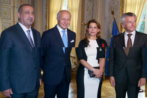 فرنسا تمنح الأميرة هيا بنت الحسين أرفع الأوسمة الوطنية