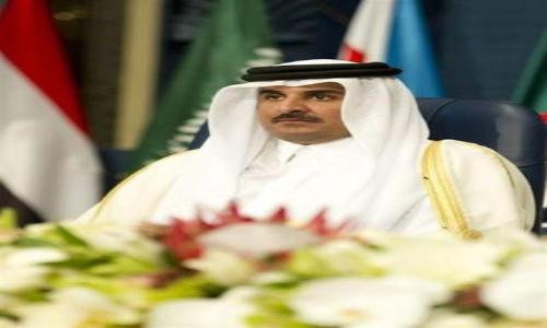 أمير قطر يدعو لفك الحصار عن غزة ويتمنى الخير لمصر