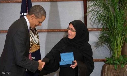 """أوباما يمنح السعودية مها المنيف جائزة """"أشجع امرأة"""""""