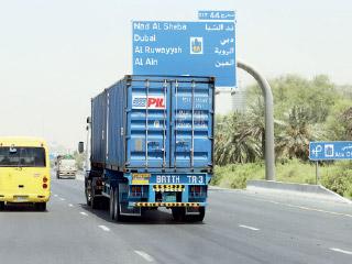 منع مرور الشاحنات على شارع الشيخ محمد بن زايد نهاية 2016