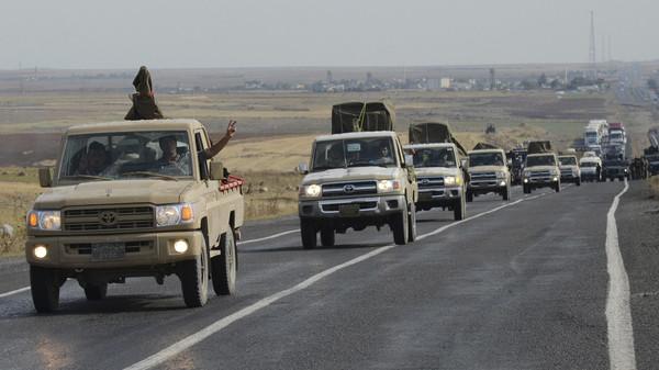 أول دفعة من مقاتلي البيشمركة العراقيين تدخل عين العرب