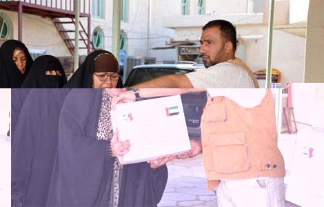 """""""خليفة الخيرية"""" تنهي توزيع مساعداتها على نصف مليون نازح عراقي"""