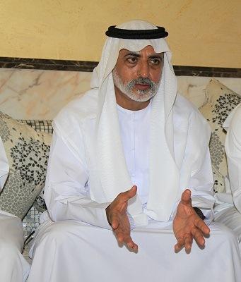 نهيان بن مبارك يحضر أفراح بن كردوس العامري