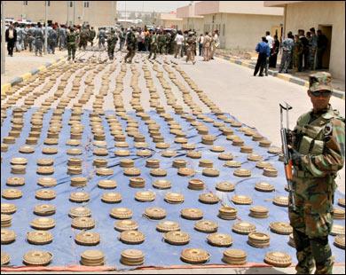 العراق يحوي 28 مليون لغم وعبوة غير منفجرة