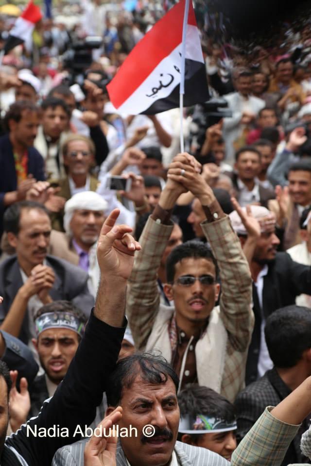 عشرات الآلاف من اليمنيين يحتشدون لرفض عنف جماعة الحوثي