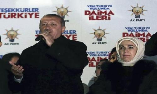 أردوغان يعلن تحقيق حزبه فوزًا تاريخيًا بالانتخابات