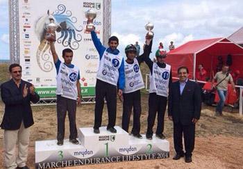 حمدان بن محمد يتوج بطلا لسباق ايطاليا للقدرة