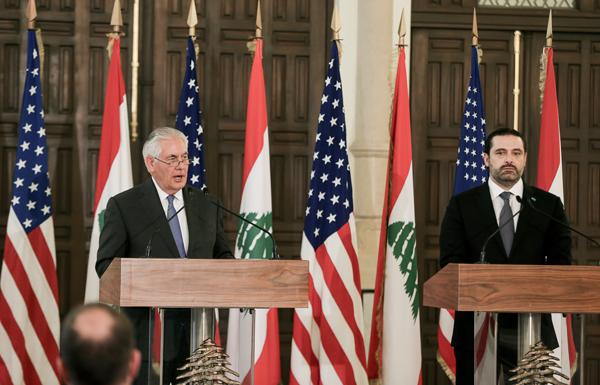 تيلرسون: ضلوع حزب الله في نزاعات إقليمية يهدد لبنان والمنطقة