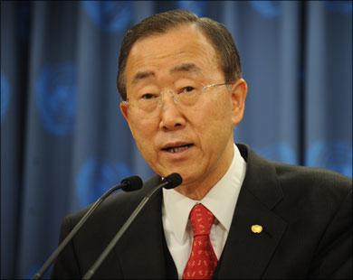 بان كي مون يحذر من استخدام النظام السوري للغازات السامة