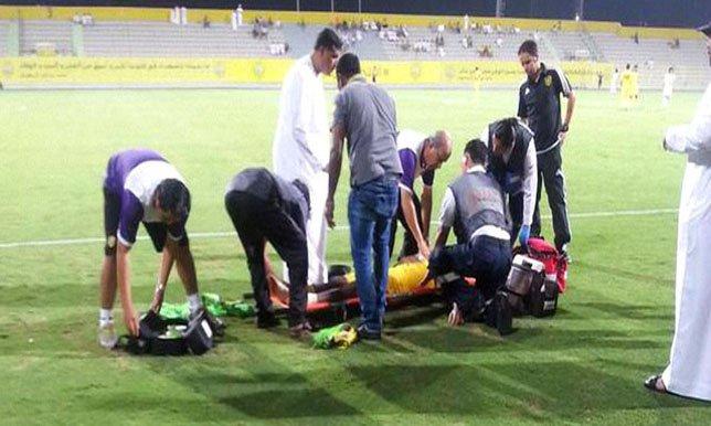علي جوهر كان على وشك الموت أثناء مباراة فريقه أمام اتحاد جدة