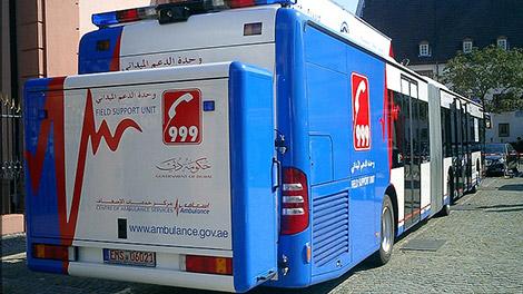 إسعاف دبي تنقذ 22 تلميذا تعرضوا لحرارة الشمس
