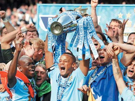 مانشستر سيتي يتوج بطلا للدوري الإنجليزي