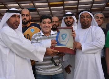 مارادونا يزور نادي حتا الرياضي