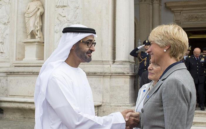 محمد بن زايد يبحث مع مسؤولين إيطاليين مستجدات المنطقة