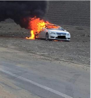 إحالة مواطن أحرق سيارته عمداً إلى النيابة العامة