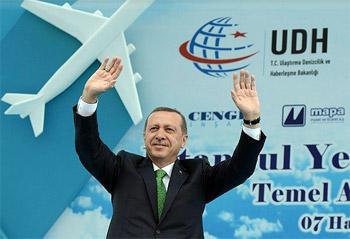 تركيا تضع حجر الأساس لبناء أكبر مطار في العالم