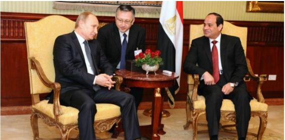 السيسي يعد بوتين بالعمل على تغيير موقف الخليج من الحوثي و الأسد