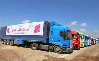 قطر تقدم 65 طن من المساعدات الطبية والإغاثية لغزة