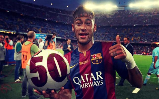 المباراة رقم 50 لنيمار مع برشلونة