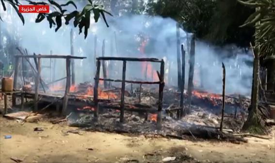 العفو الدولية تتهم جيش ميانمار بحرق قرى مسلمي الروهينغا