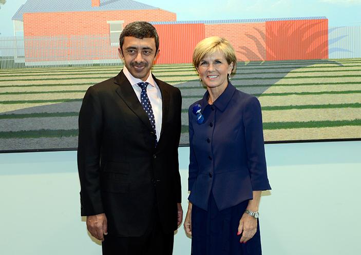 عبدالله بن زايد يبحث تطوير العلاقات التجارية مع استراليا