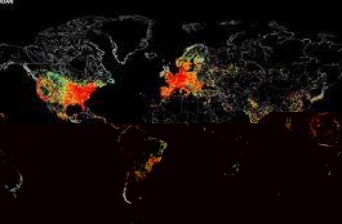 أمريكي يصمم خريطة تكشف الأجهزة المتصلة بالإنترنت حول العالم
