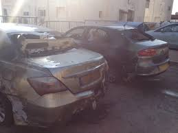 إحراق سيارتين تابعتين لقنصلية سعودية في مصر