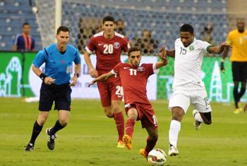 المنتخب السعودي يتعادل مع نظيره القطري في أولى مباريات خليجي 22