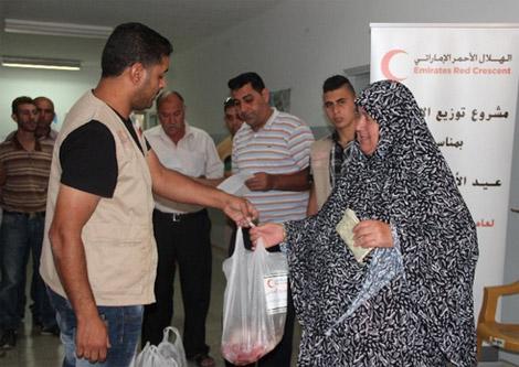 الهلال الأحمر: 700 عائلة فلسطينية استفادت من مشروع الأضاحي