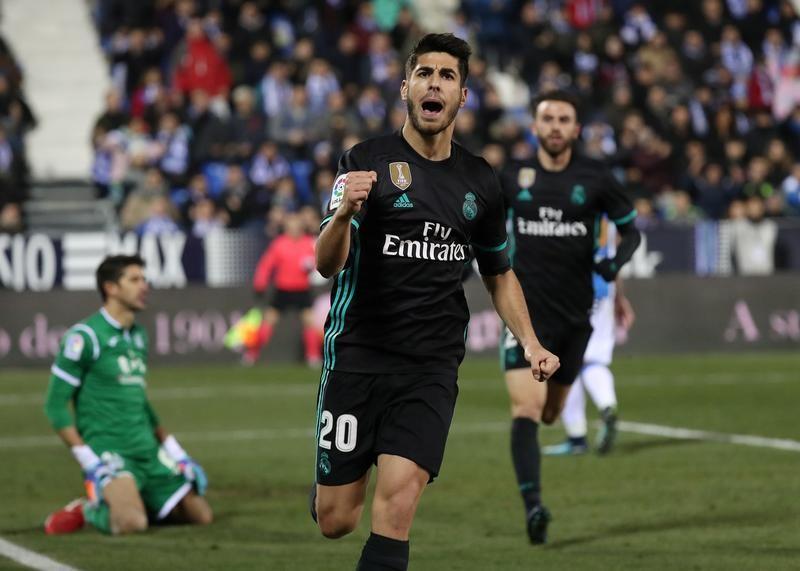 اسينسيو يقود ريال المتعثر للفوز على ليجانيس في كأس اسبانيا
