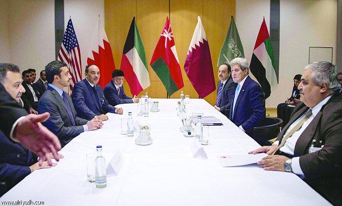 كيري يناقش الملف النووي الإيراني مع وزراء خارجية دول مجلس التعاون