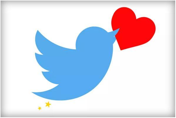 تويتر تستبدل النجمة بالقلب للتعبير عن الإعجاب بالتغريدات