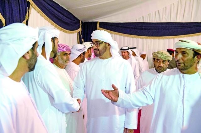 محمد بن زايد معزياً بالشهداء:نرفع هاماتنا بمواقف شعبنا وتضحيات الشهداء