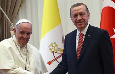 أردوغان يحذر بابا الفاتيكان من تكرار تصريحاته حول المزاعم الأرمنية