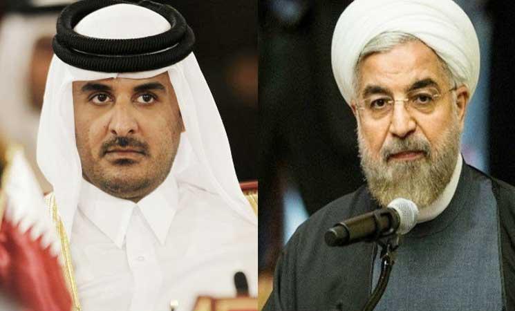رسالة شفوية من رئيس إيران لأمير قطر