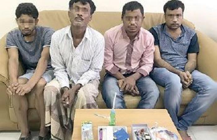 ضبط 7 آسيويين يروجون العقاقير المخدرة في رأس الخيمة