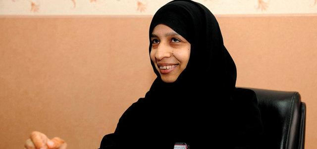 مريم تتحدّى الإعاقة البصرية بأول ماجستير من «أكاديمية دبي»