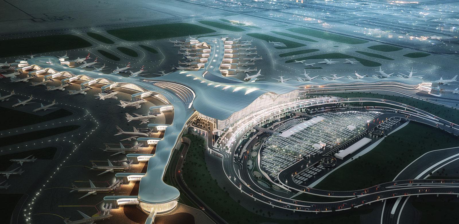بتكلفة 18 مليار درهم إنهاء 46% من أعمال مطار أبوظبي الجديد