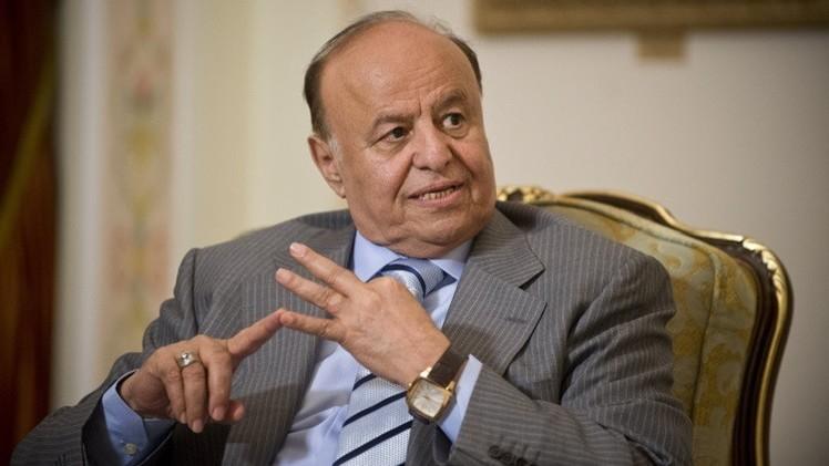 الرئيس اليمني: لا تفاوض قبل الاعتراف بالقرار 2216