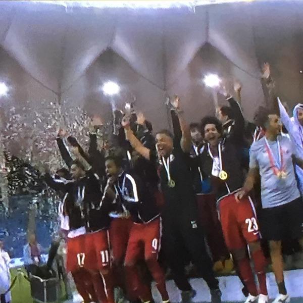 قطر تتوج بكأس الخليج على حساب السعودية
