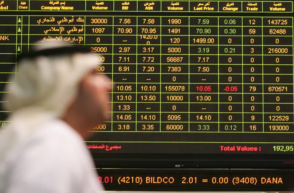 """""""دبي"""" يبتدأ الأسبوع بارتفاع طفيف بفضل البنوك"""