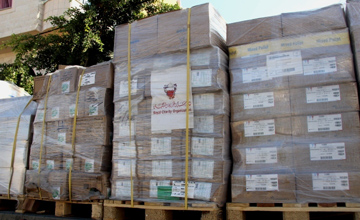 البحرين تقدم 40 طن من الأدوية في قطاع غزة