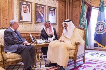 ولي العهد السعودي يلتقي منسق التحالف الدولي للحرب على تنظيم الدولة