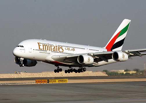 """""""طيران الإمارات"""" تقترض 425 مليون دولار لشراء طائرات جديدة"""