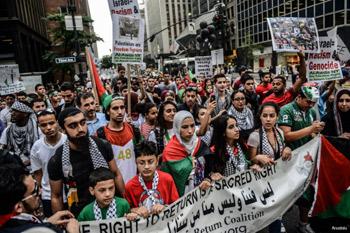 السلطات الأمريكية توقف معتصمين ضد العدوان على غزة في نيويورك