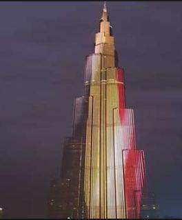 إضاءة معالم رئيسية في العالم بالعلم البلجيكي بينها برج خليفة