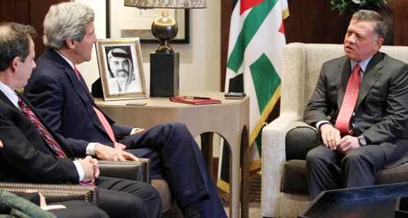 ملك الأردن لكيري: نرفض الاجراءات الإسرائيلية في الأقصى
